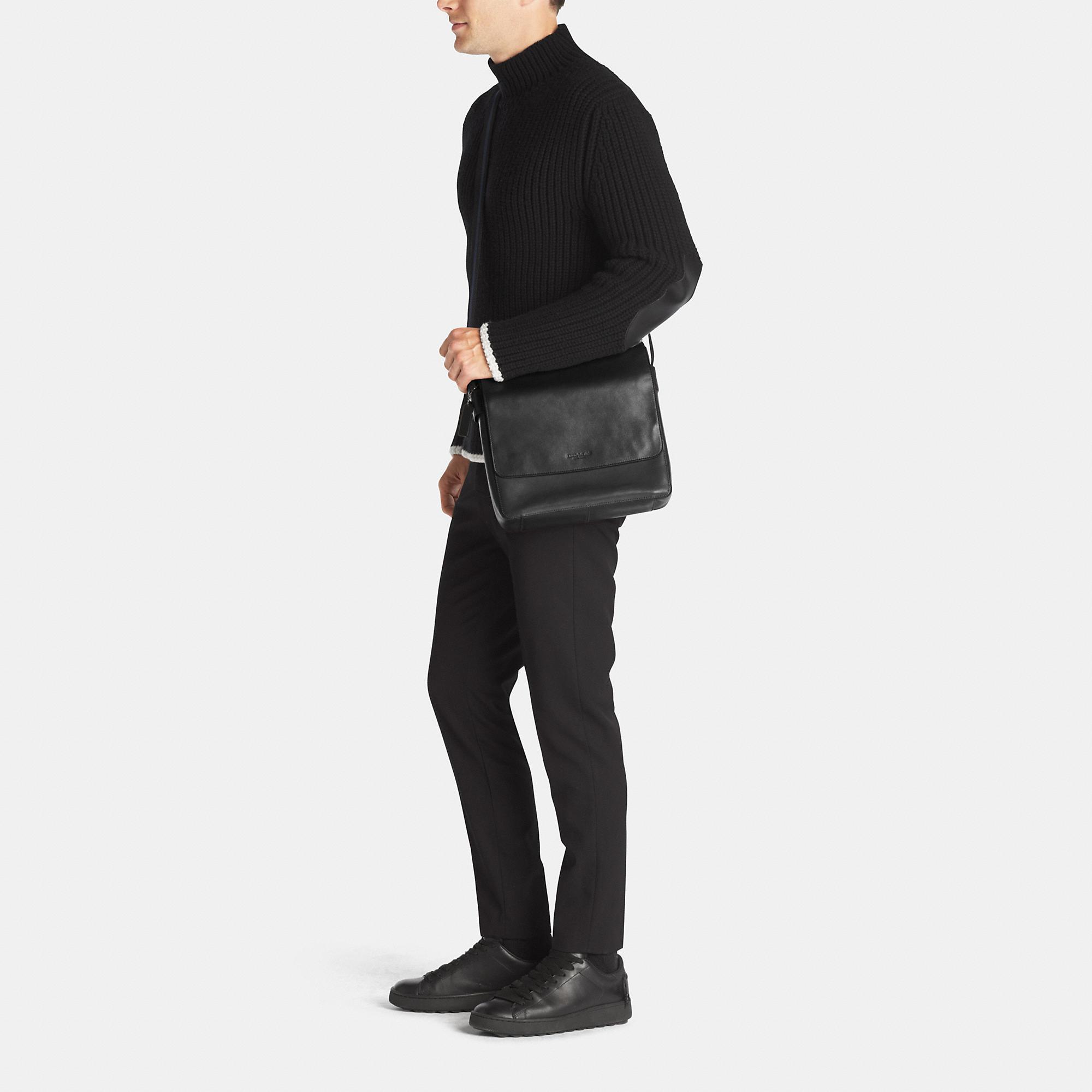 fcbb436aaa Lyst - COACH Metropolitan Map Bag In Sport Calf Leather in Black for Men