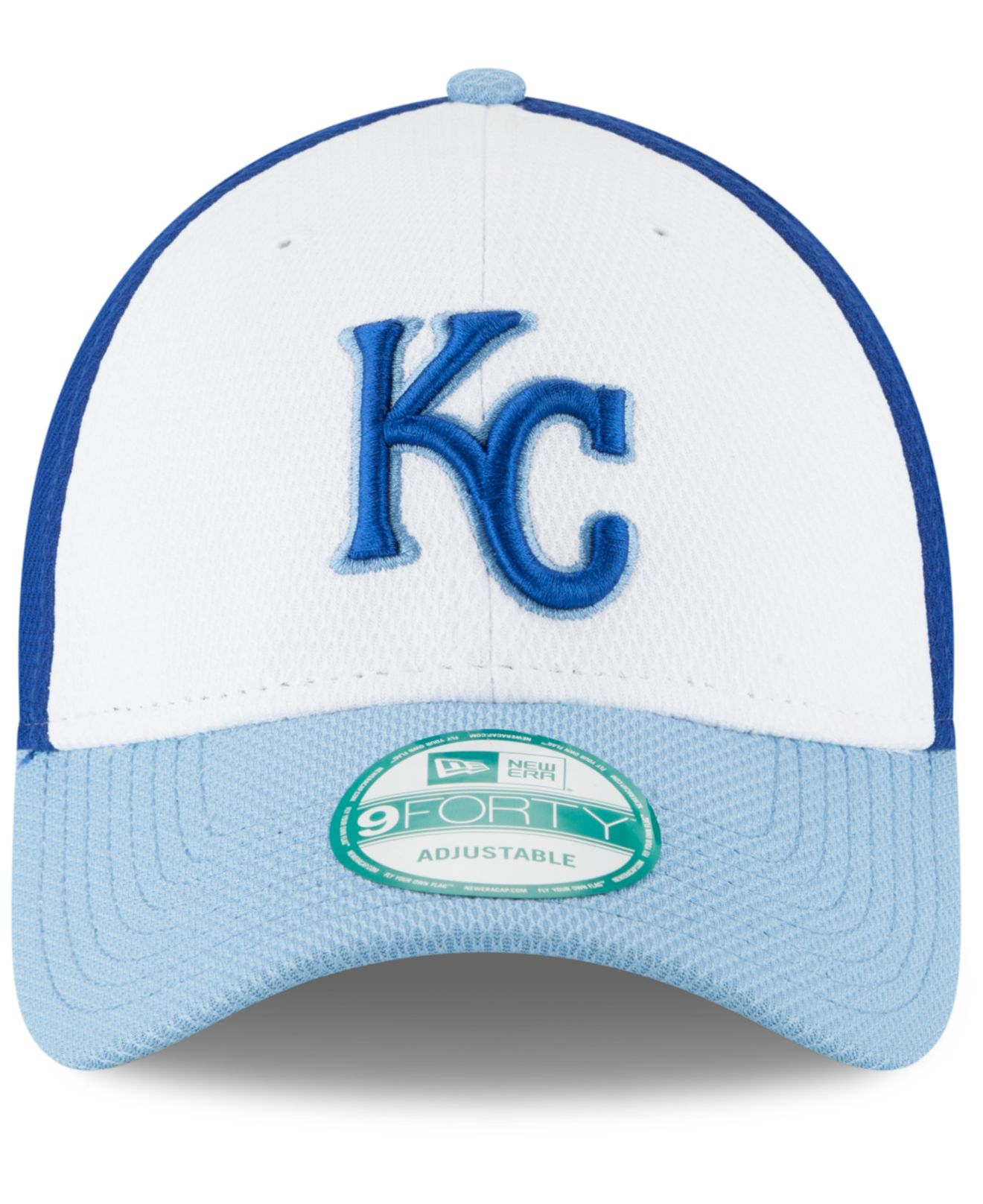 new arrival be44a 7cf06 Lyst - Ktz Kansas City Royals Perforated Block 9forty Cap in Blue ...
