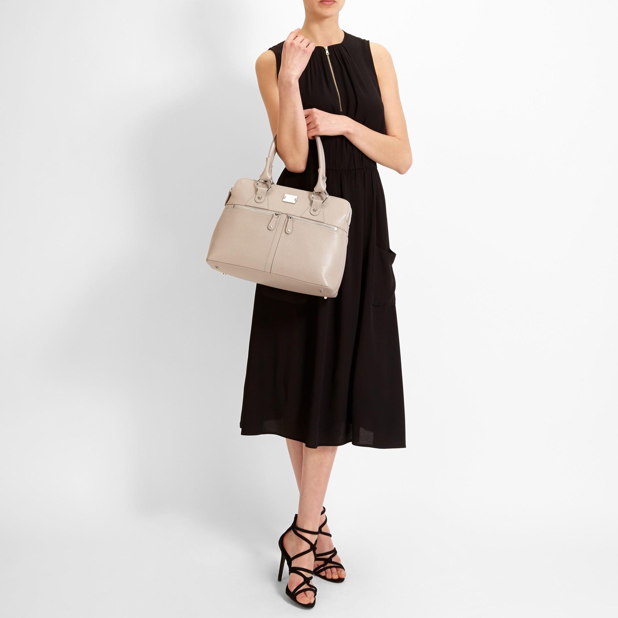 6dc1c505e2 Modalu Pippa Classic Grab Bag in Natural - Lyst