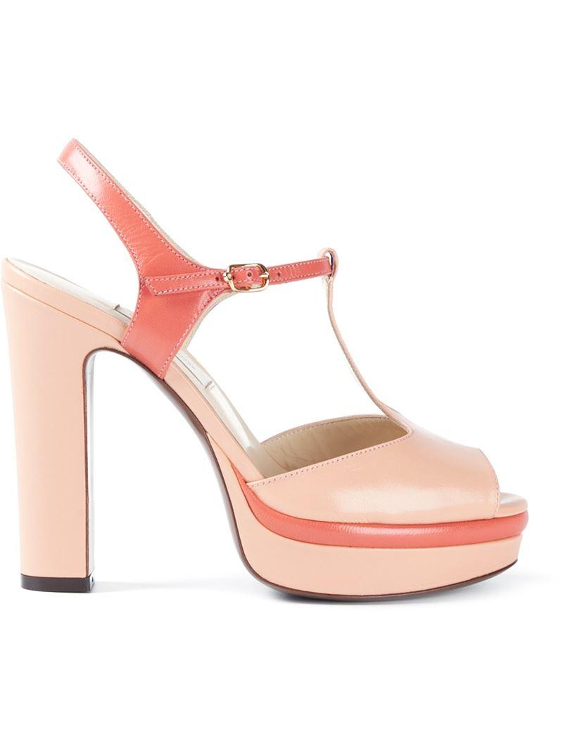 l autre chose platform t bar sandals in pink lyst