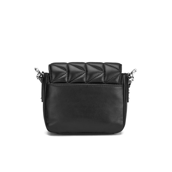 Karl Lagerfeld Leather Women's K/kuilted Cross Body Bag in Silver (Metallic)