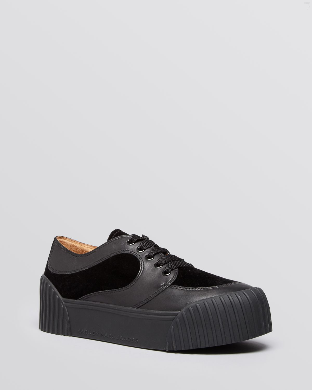 superior quality b737f 4aac4 Marc By Marc Jacobs Lace Up Platform Creeper Sneakers ...