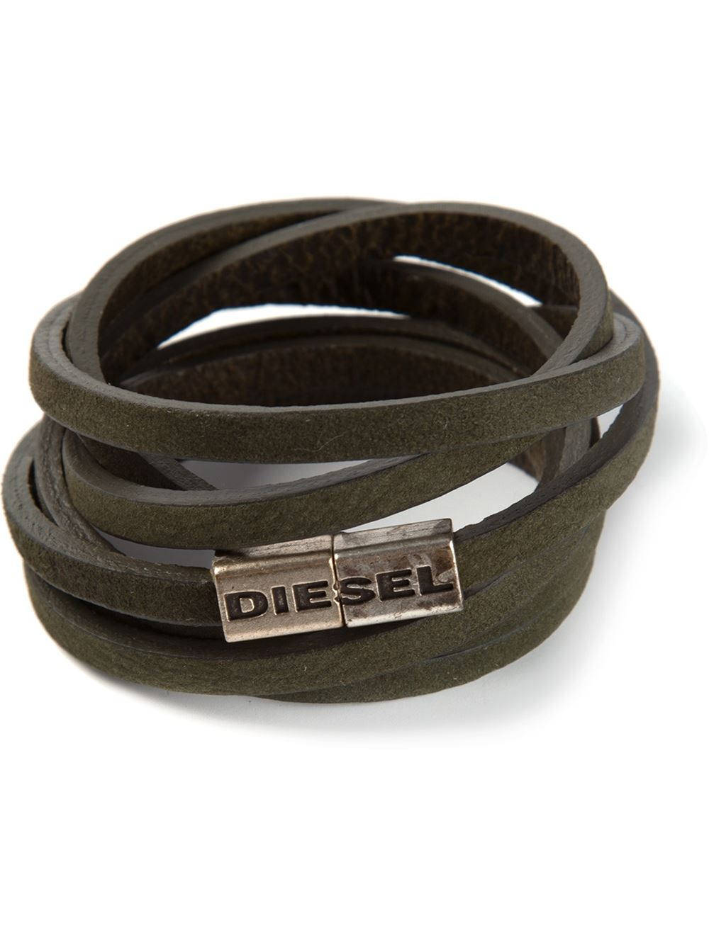 Diesel Acavi Bracelet In Green For Men Lyst
