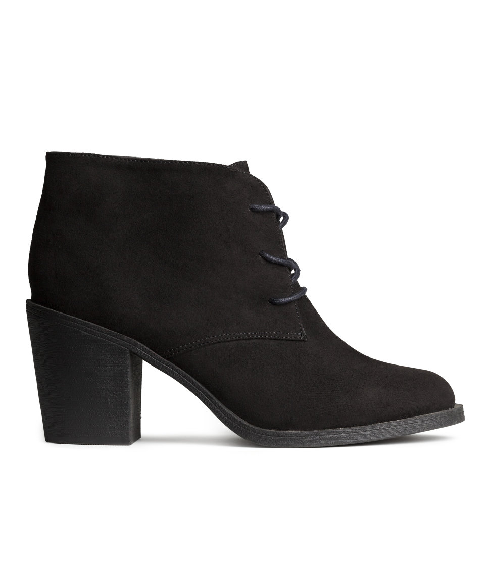 h m lace up ankle boots in black lyst