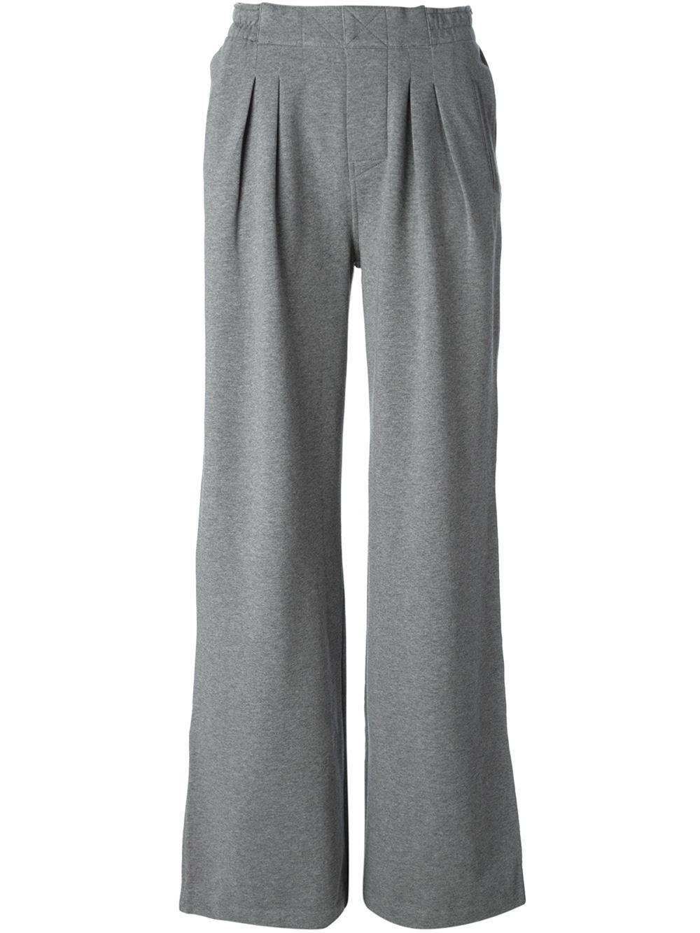 wide leg track pants: