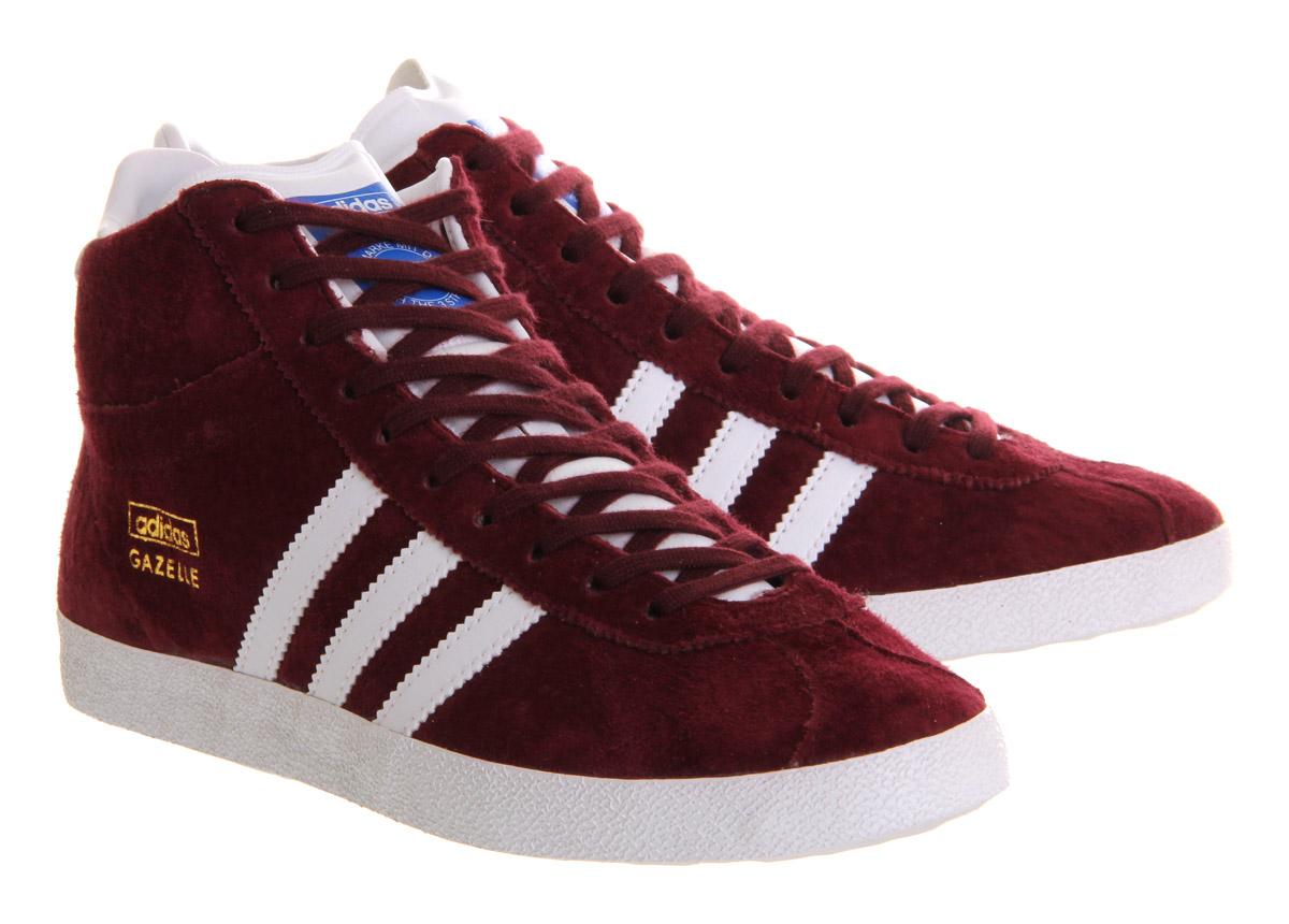 adidas Gazelle Og Mid in Burgundy (Red) for Men - Lyst