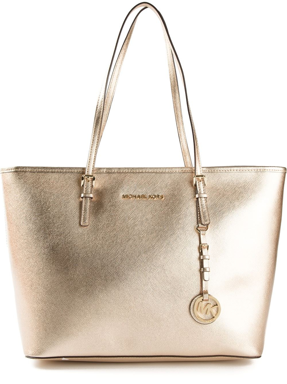 tote from michael michael kors pattern metallic material leather. Black Bedroom Furniture Sets. Home Design Ideas