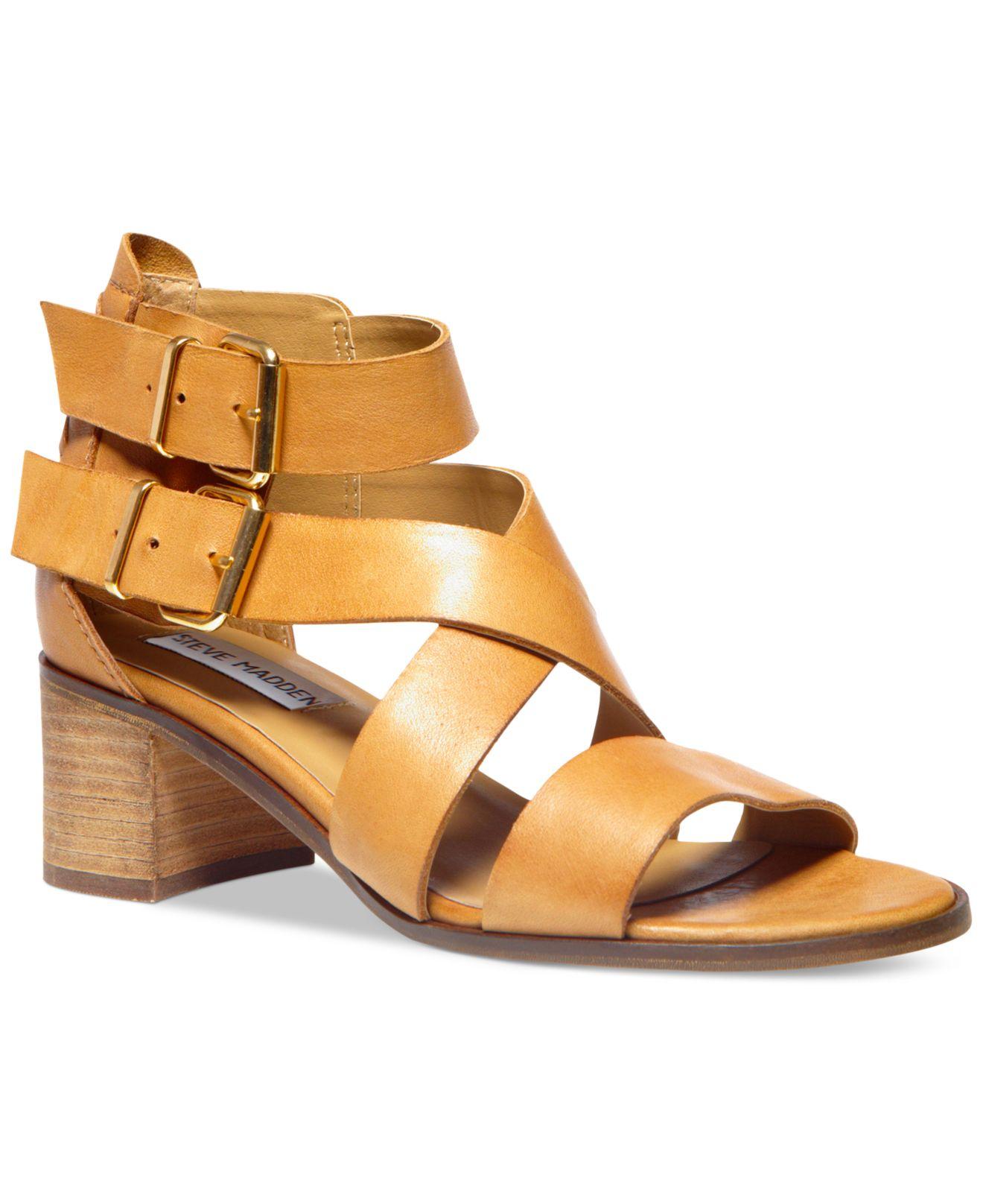 6a300476dd9 Steve Madden Natural Women'S Rosana Block Heel City Sandals