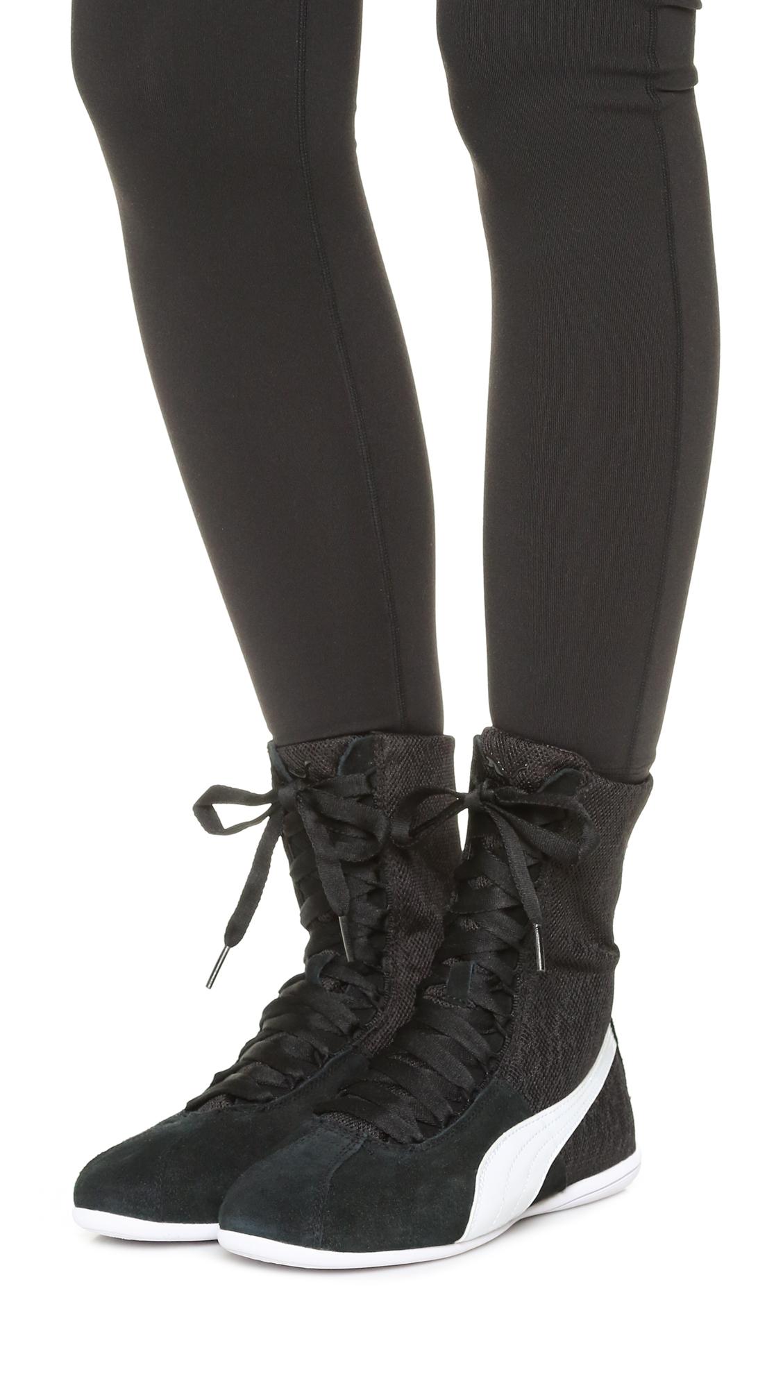 5baac7c555e5c PUMA Black Eskiva High Top Textured Sneakers