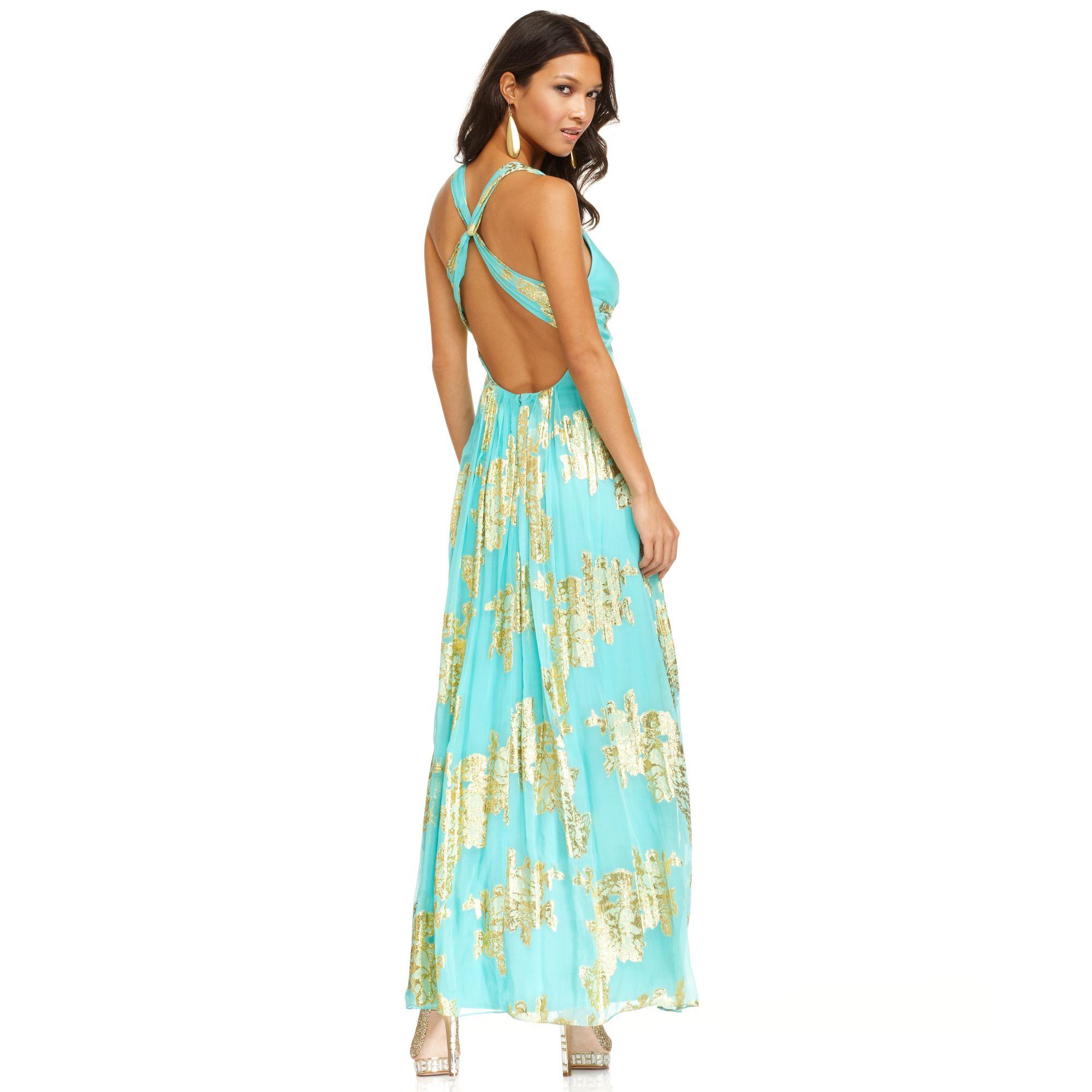 Turmec » xscape dress sleeveless one-shoulder sequin gown
