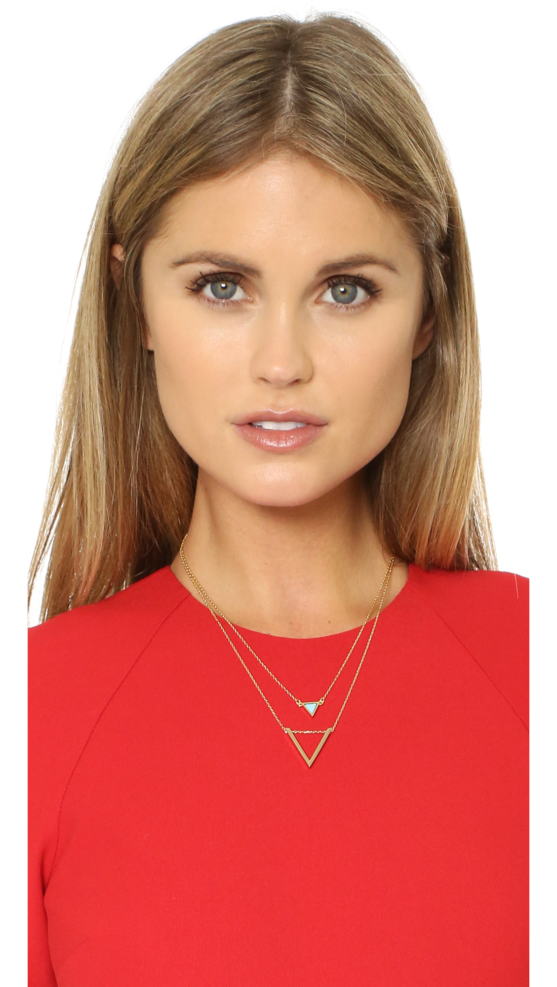 Lyst Jules Smith Short Layered Triangle Necklace In Metallic