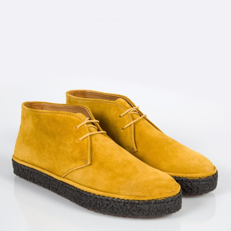 Paul smith Women's Mustard Yellow Suede 'marley' Chukka Boots in ...