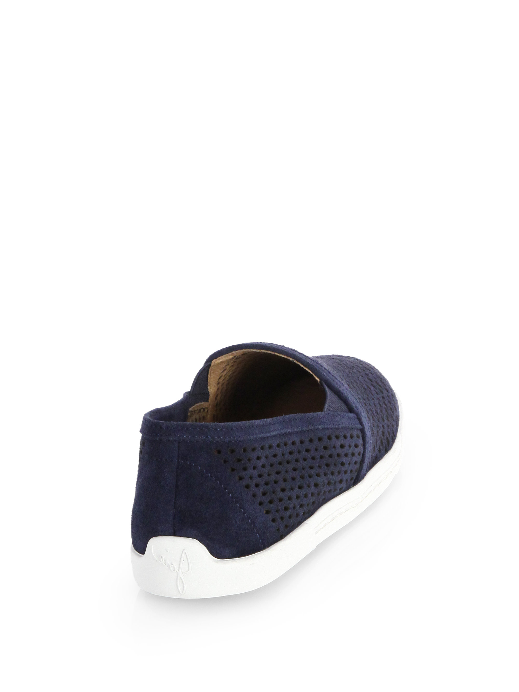 Joie Kidmore Perforated Suede Laceless Sneakers In Mink