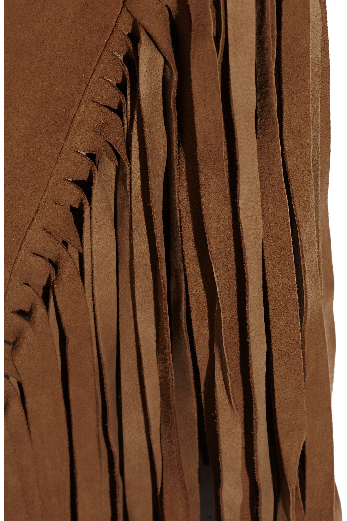 W118 by Walter Baker Lenny Fringed Suede Vest in Brown