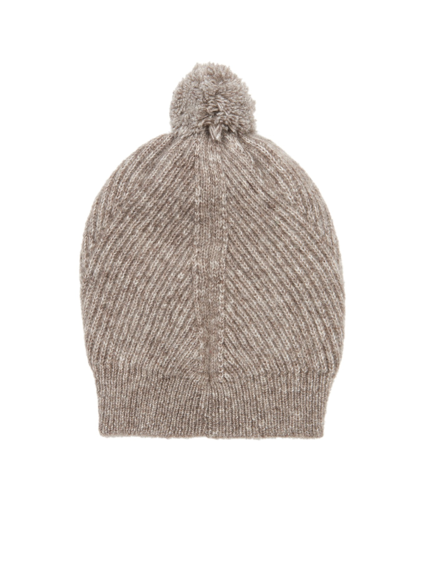 Knitting Pattern Ribbed Bobble Hat : Stella mccartney Ribbed-Knit Bobble Hat in Gray Lyst