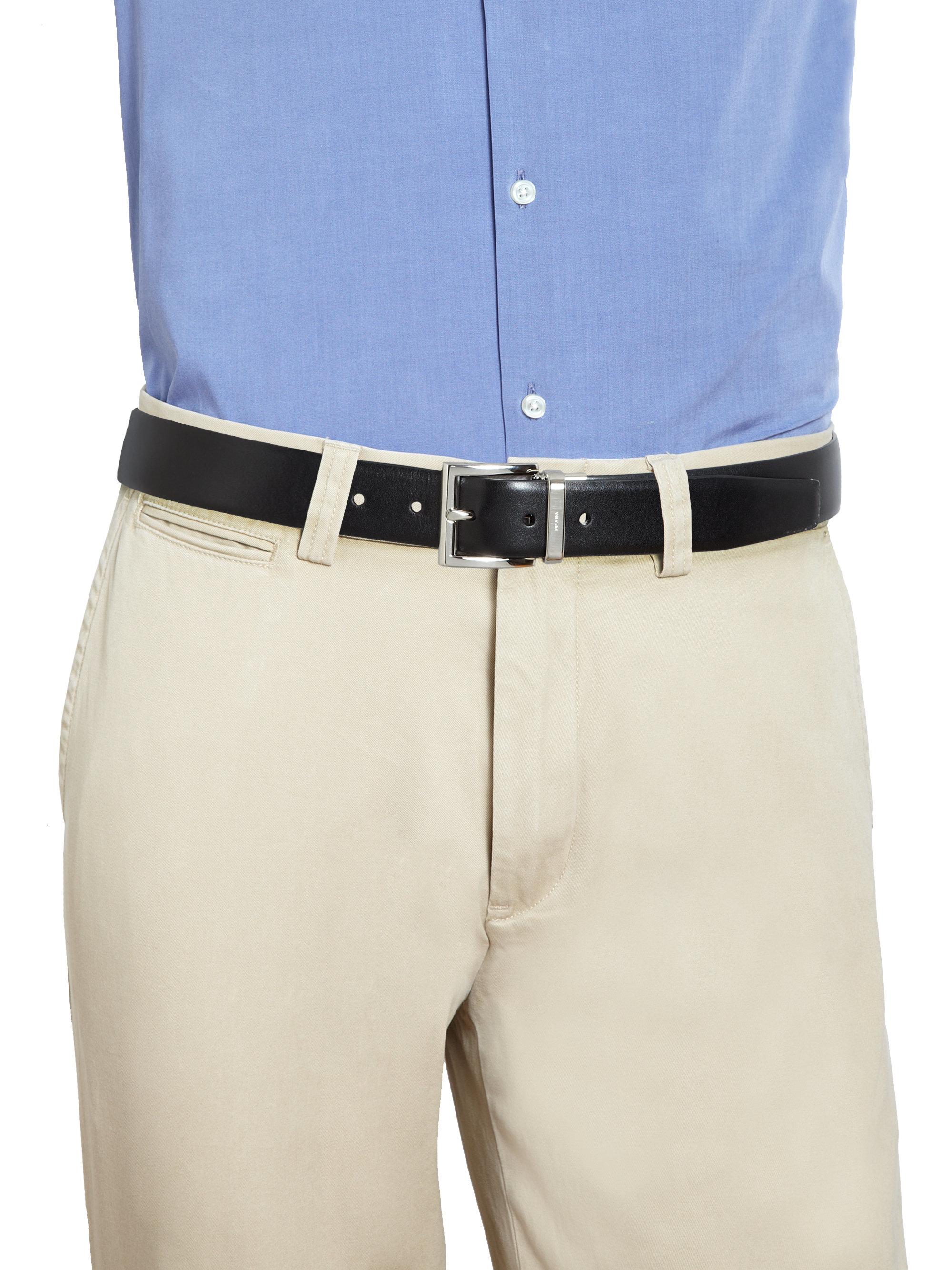 Prada Vitello Lux Reversible Belt in Black for Men | Lyst