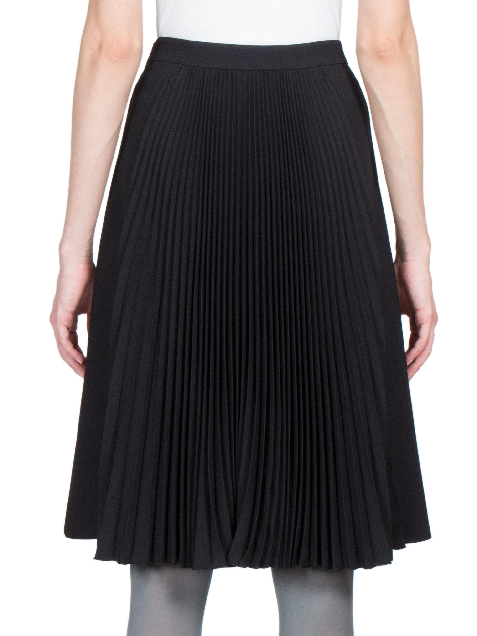 emanuel ungaro pleated knit skirt in black lyst