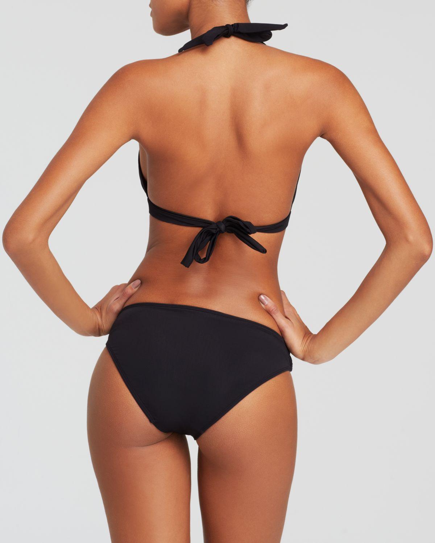 Black halter bikini