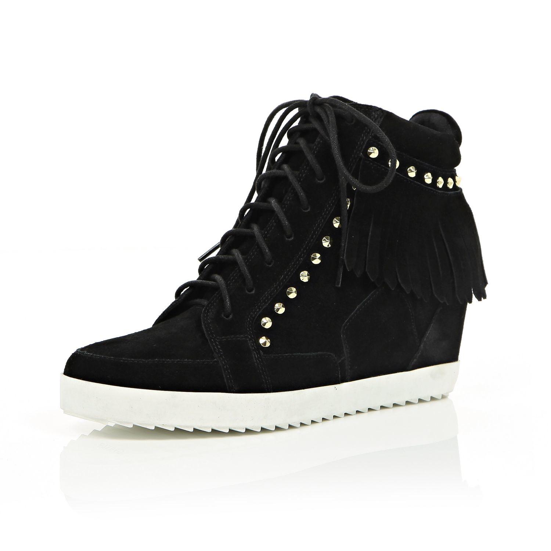 River Island Wedge Shoes Black White