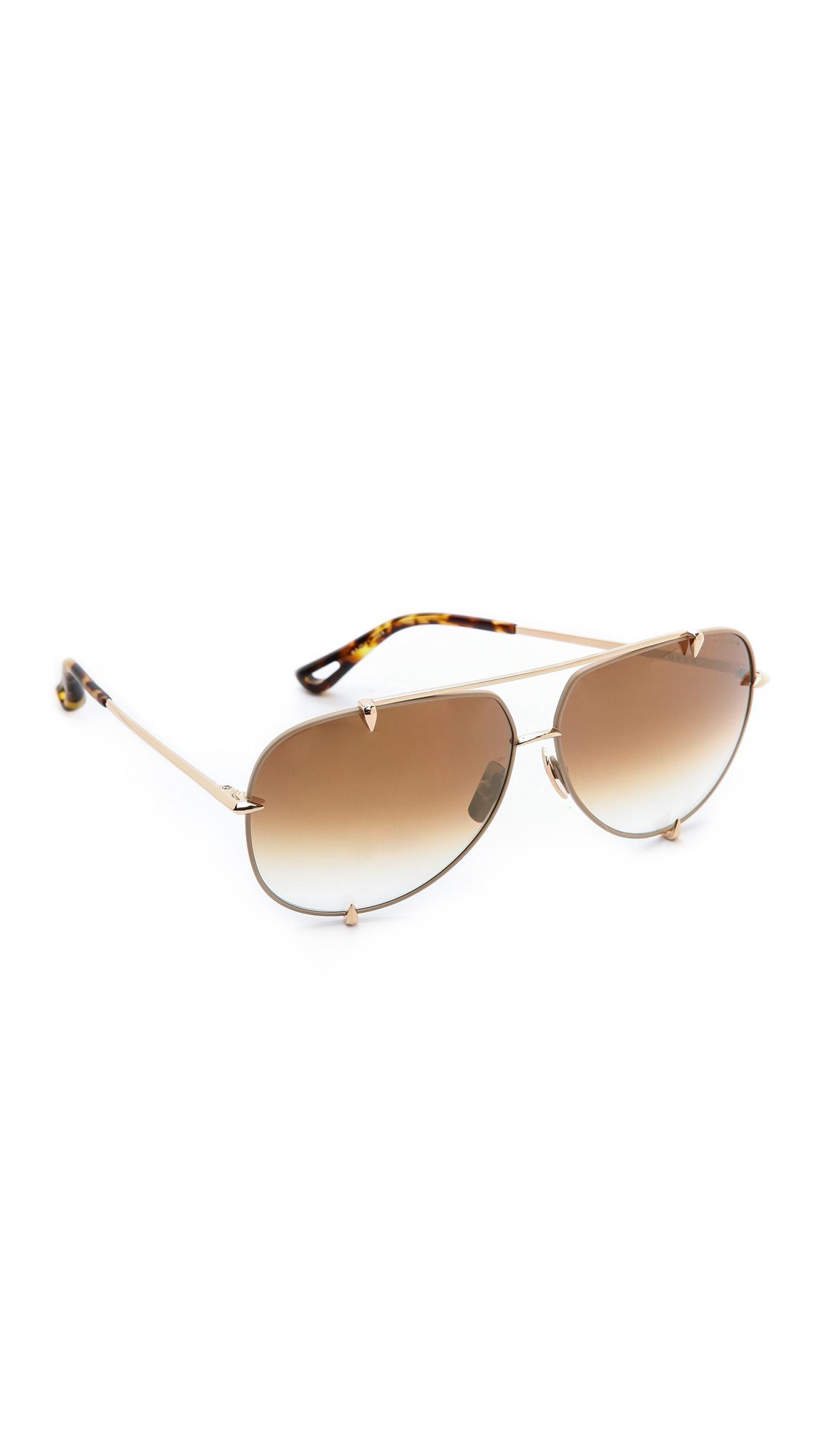 c3decfc7434f Lyst - DITA Talon Sunglasses - Satin Tan Gold Brown To Clear in Metallic