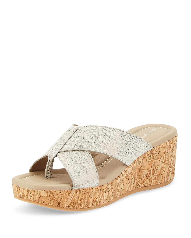 Donald J Pliner Canvas Slide Wedge Sandals brand new unisex sale online TgLpVTQadP