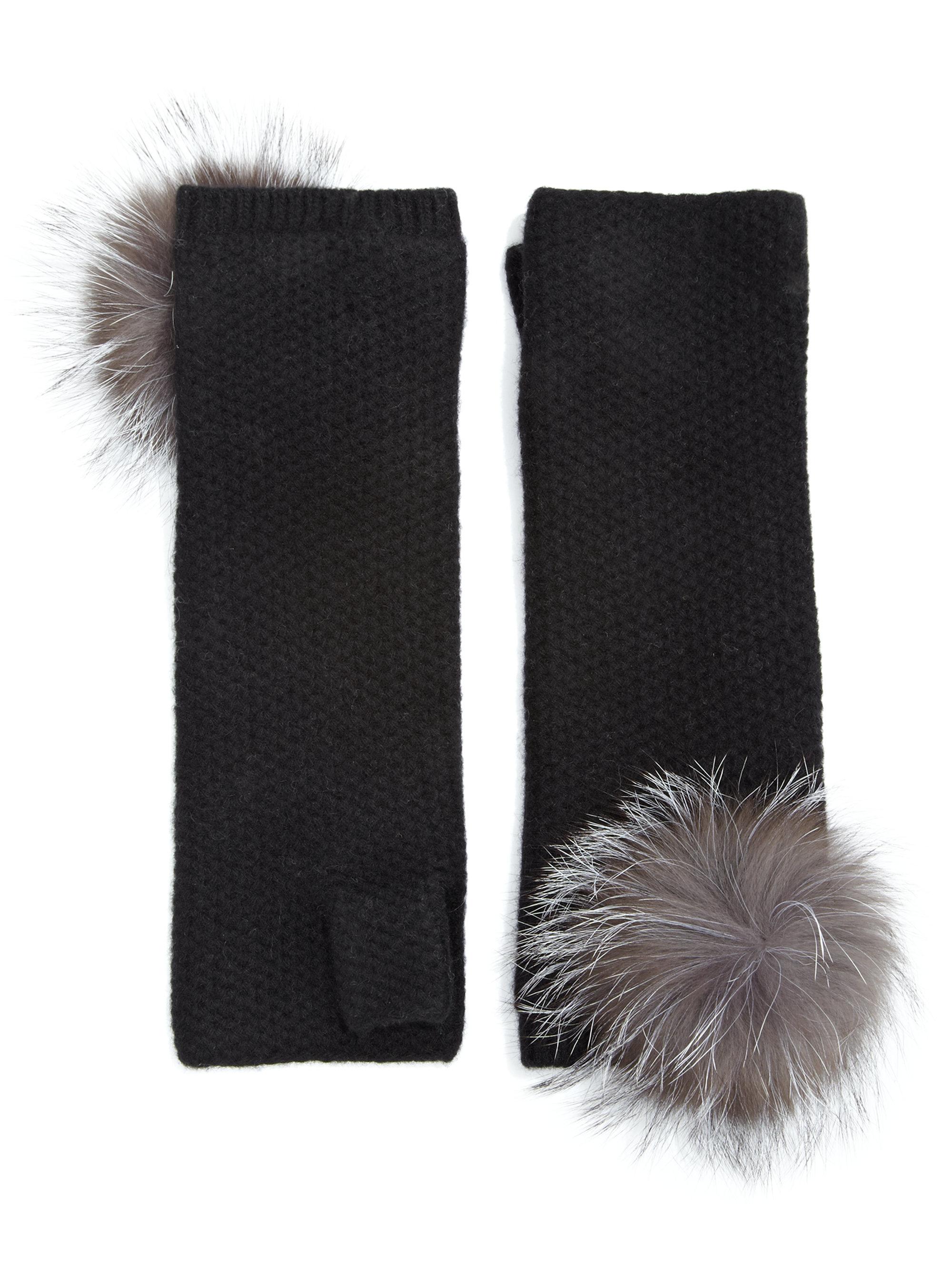 f40058856 Fox Fur Fingerless Gloves   Santa Barbara Institute for ...