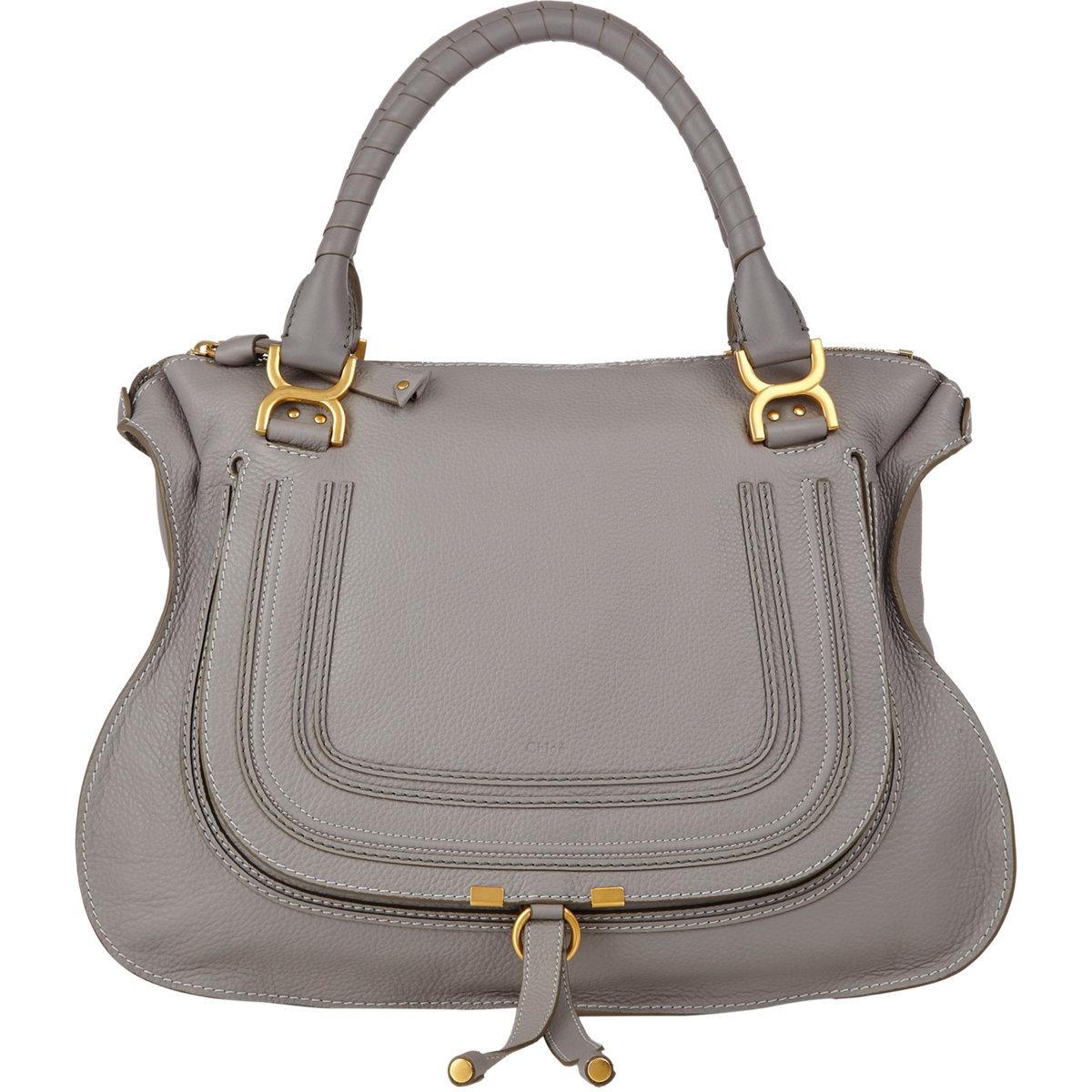 chlo marcie large satchel in gray lyst. Black Bedroom Furniture Sets. Home Design Ideas