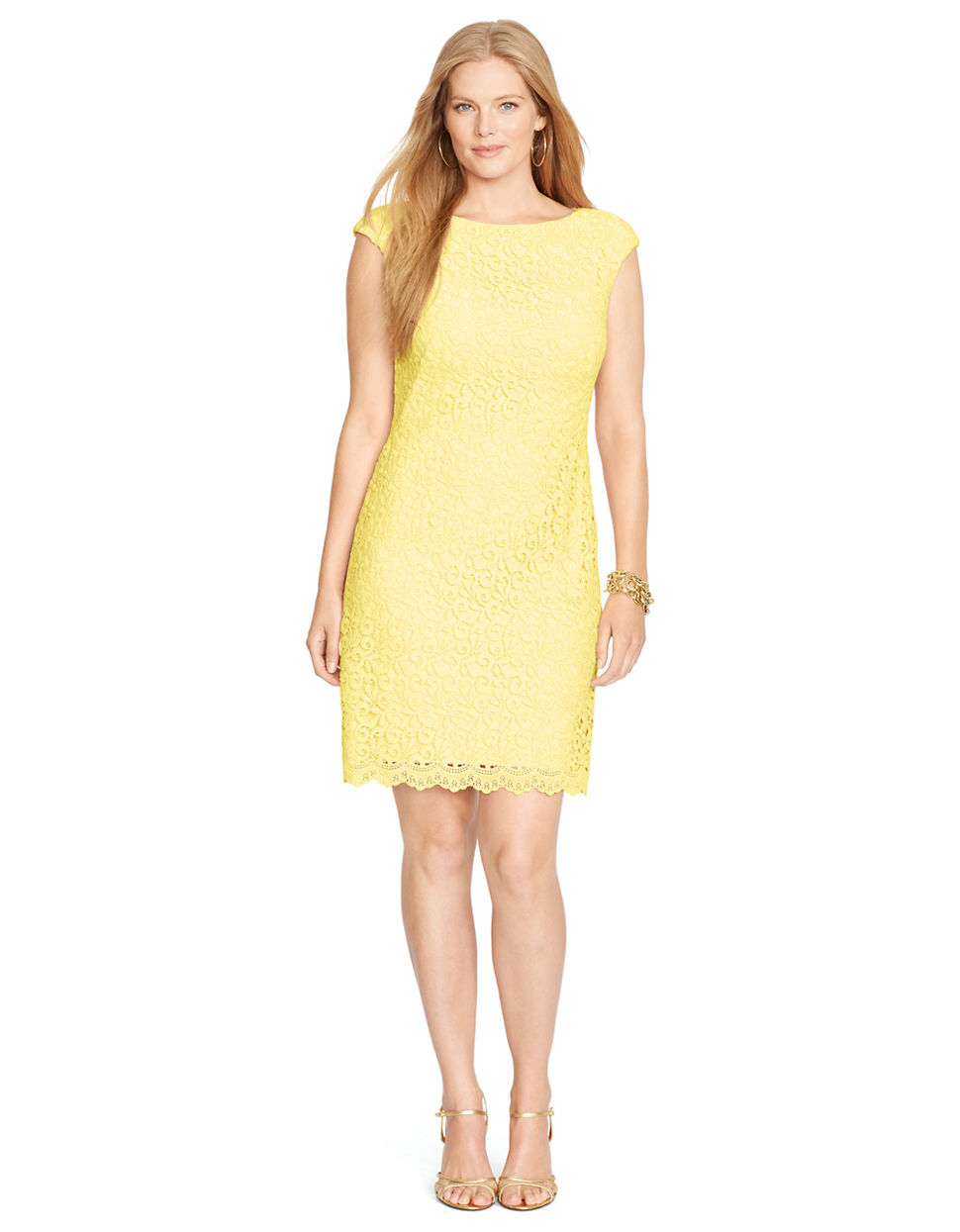 Galerry sheath dress yellow