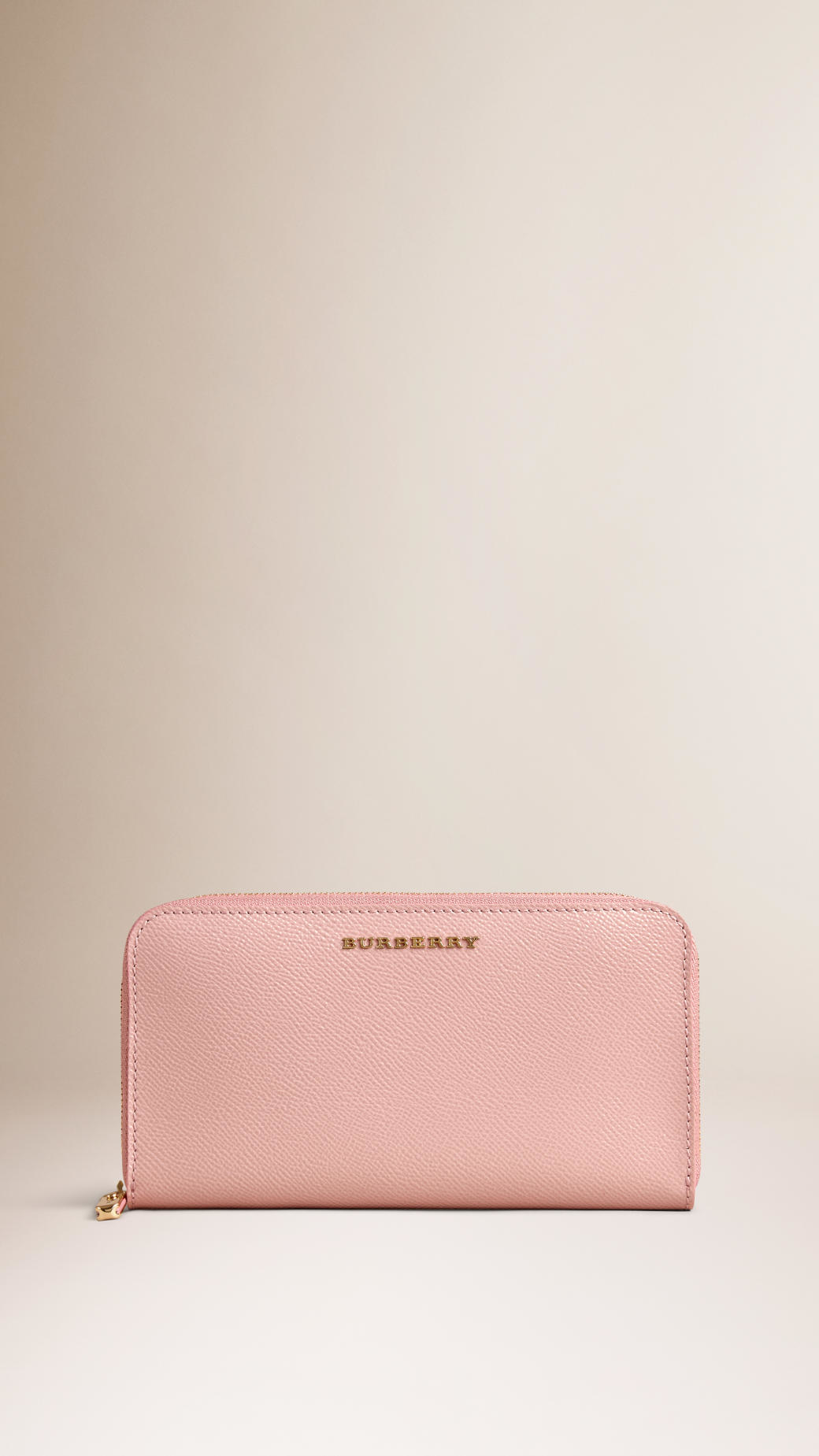 5ea76a456228 Lyst burberry patent london leather ziparound wallet ash rose in pink jpg  1040x1849 Ash rose pink