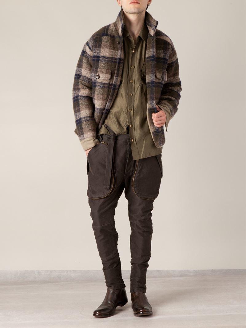 Blue Checkered Plaid Flannel Lumberjack Jacket Jeans