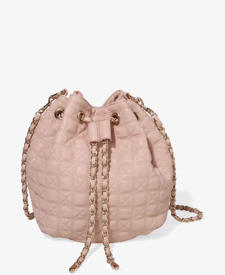 Forever 21 Quilted Bucket Bag in Pink | Lyst