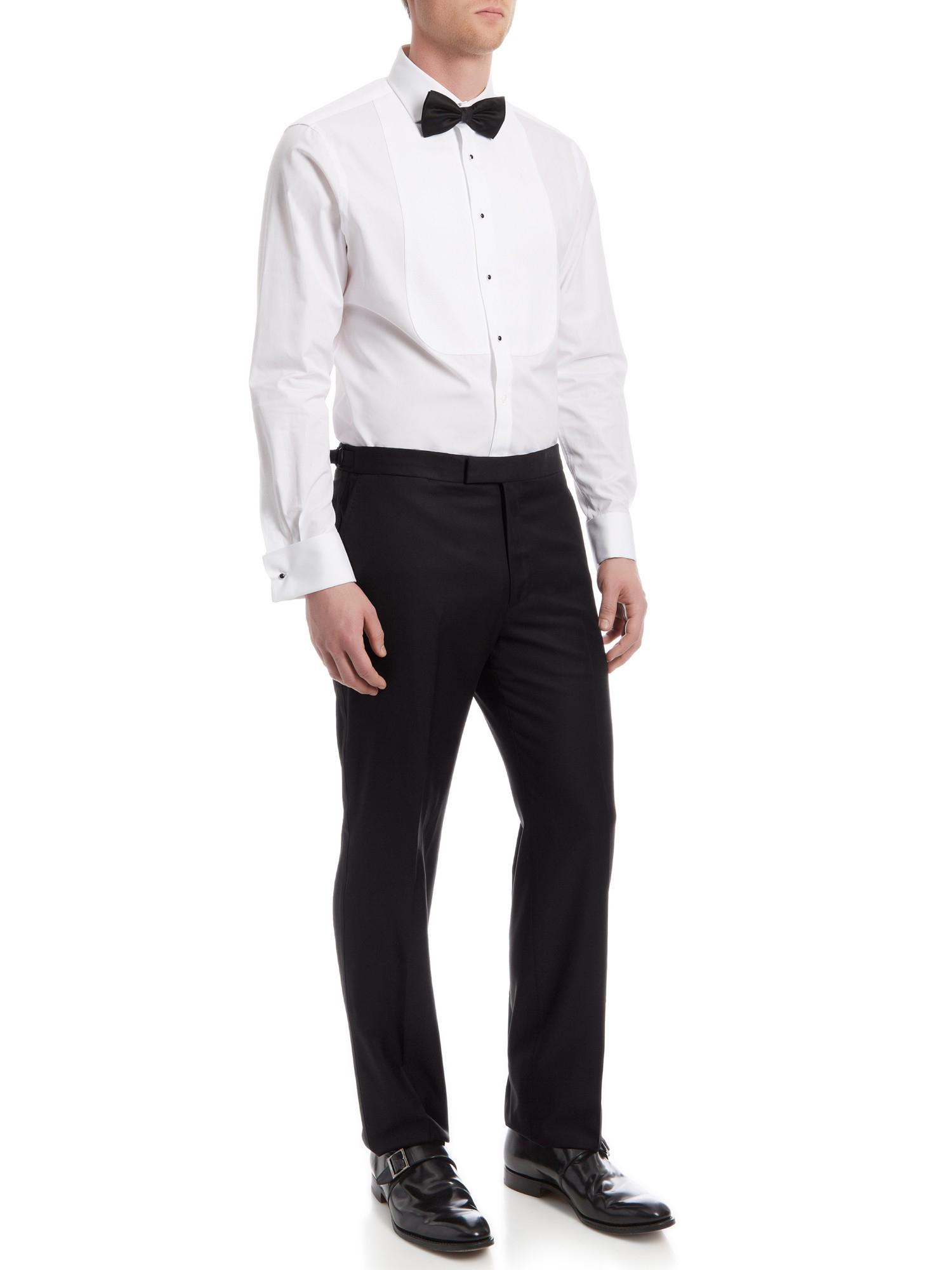 Jaeger Wool Mohair Dinner Suit Trousers in Black for Men