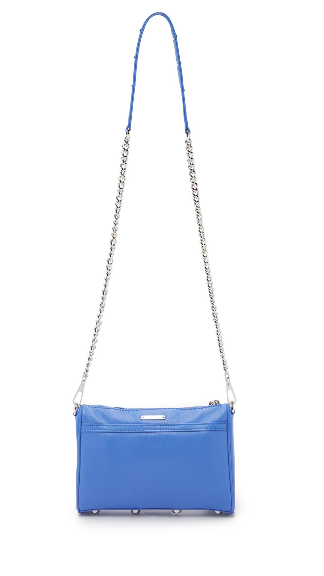 Rebecca Minkoff Mini Mac Cross Body Bag in Denim Blue (Blue)