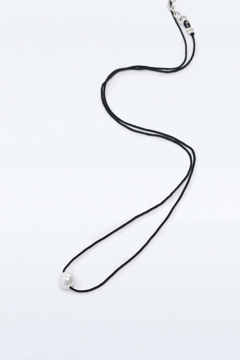 Urban Outfitters Pearl Choker Necklace in Silver (Metallic)