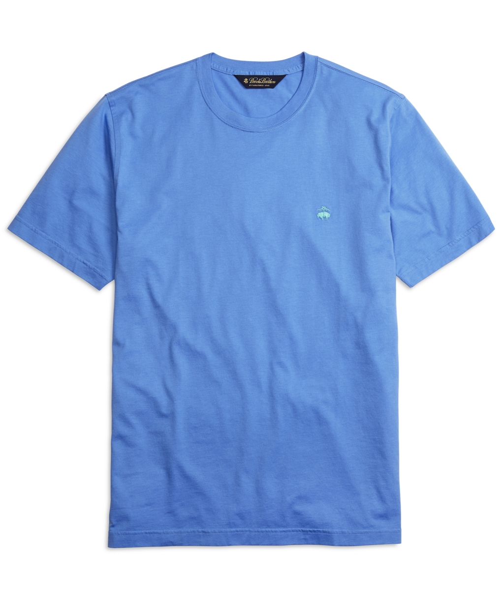 Brooks brothers supima cotton crewneck tee shirt in blue for Brooks brothers tall shirts