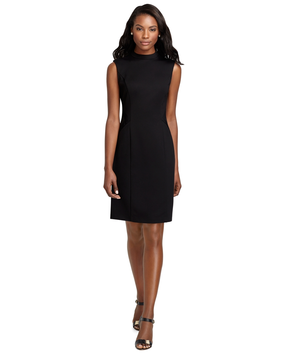76d1cd02fe Brooks Brothers Sleeveless Ponte Knit Dress with Grosgrain Trim in ...
