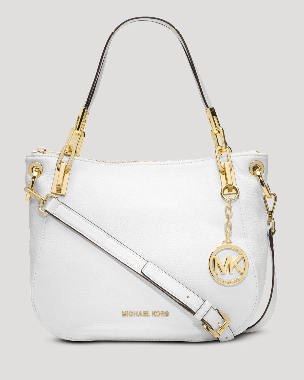 Michael michael kors Shoulder Bag - Brooke Medium in White | Lyst