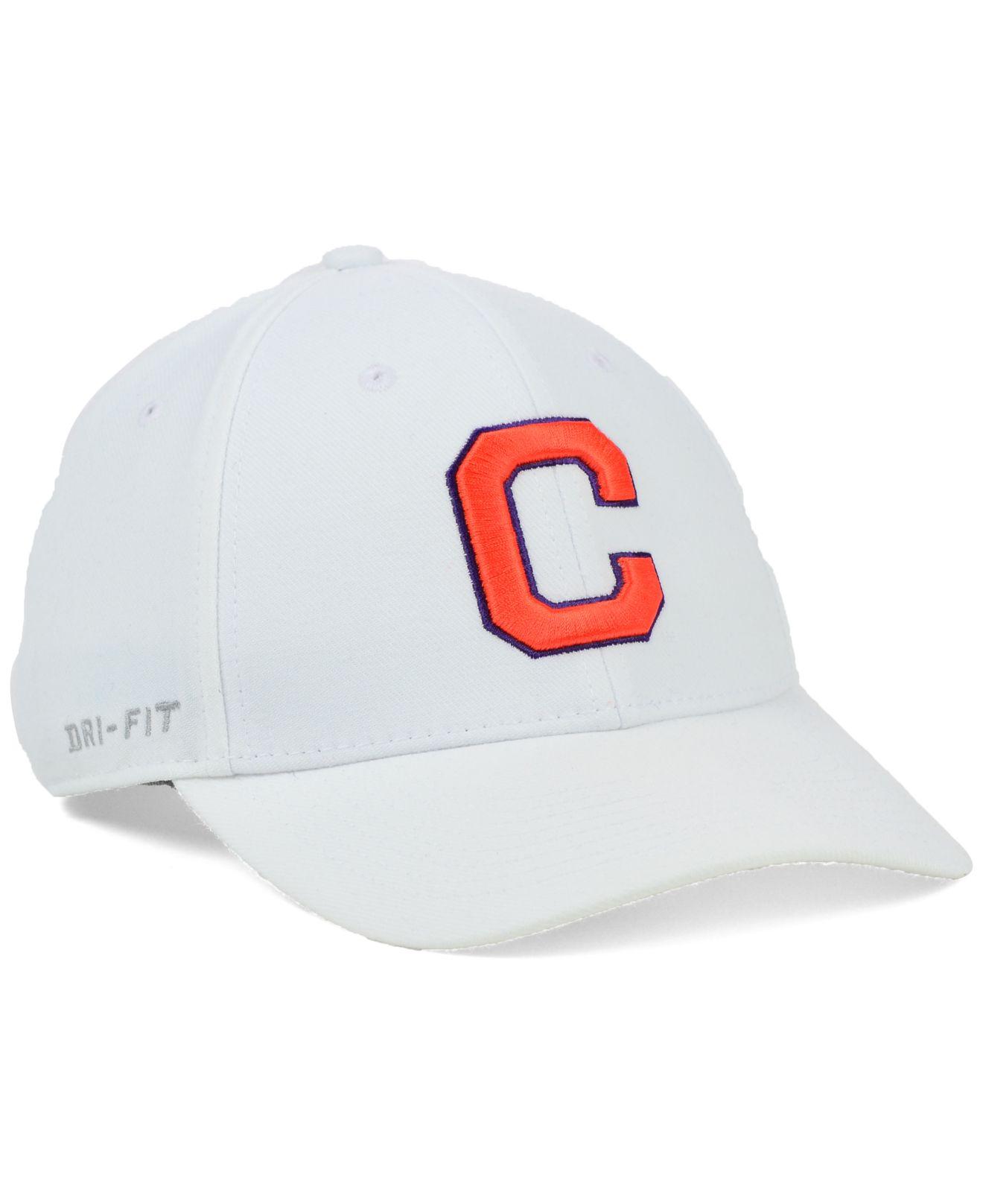 dab273a7be3 ... ebay lyst nike clemson tigers dri fit swooshflex cap in white for men  c8278 92aff