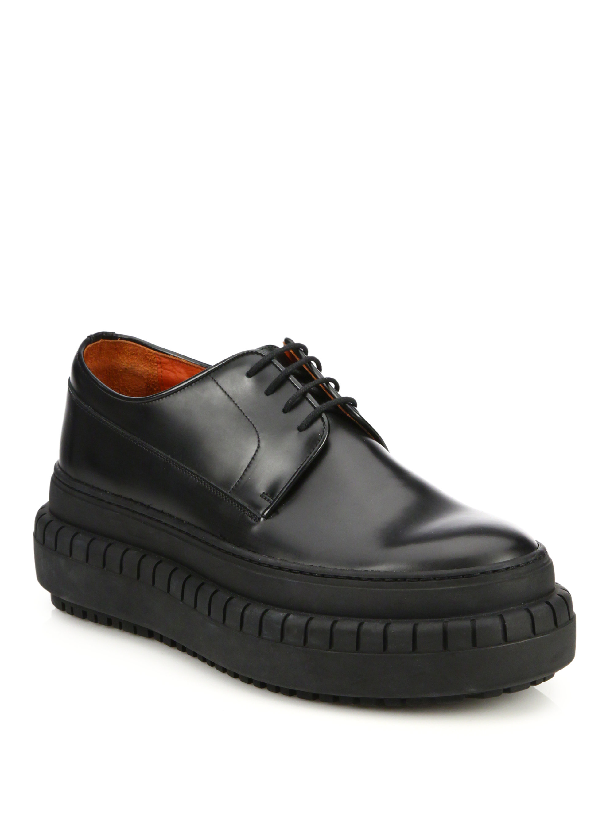 Acne Studios Hover Derby Leather Boots In Black For Men Lyst