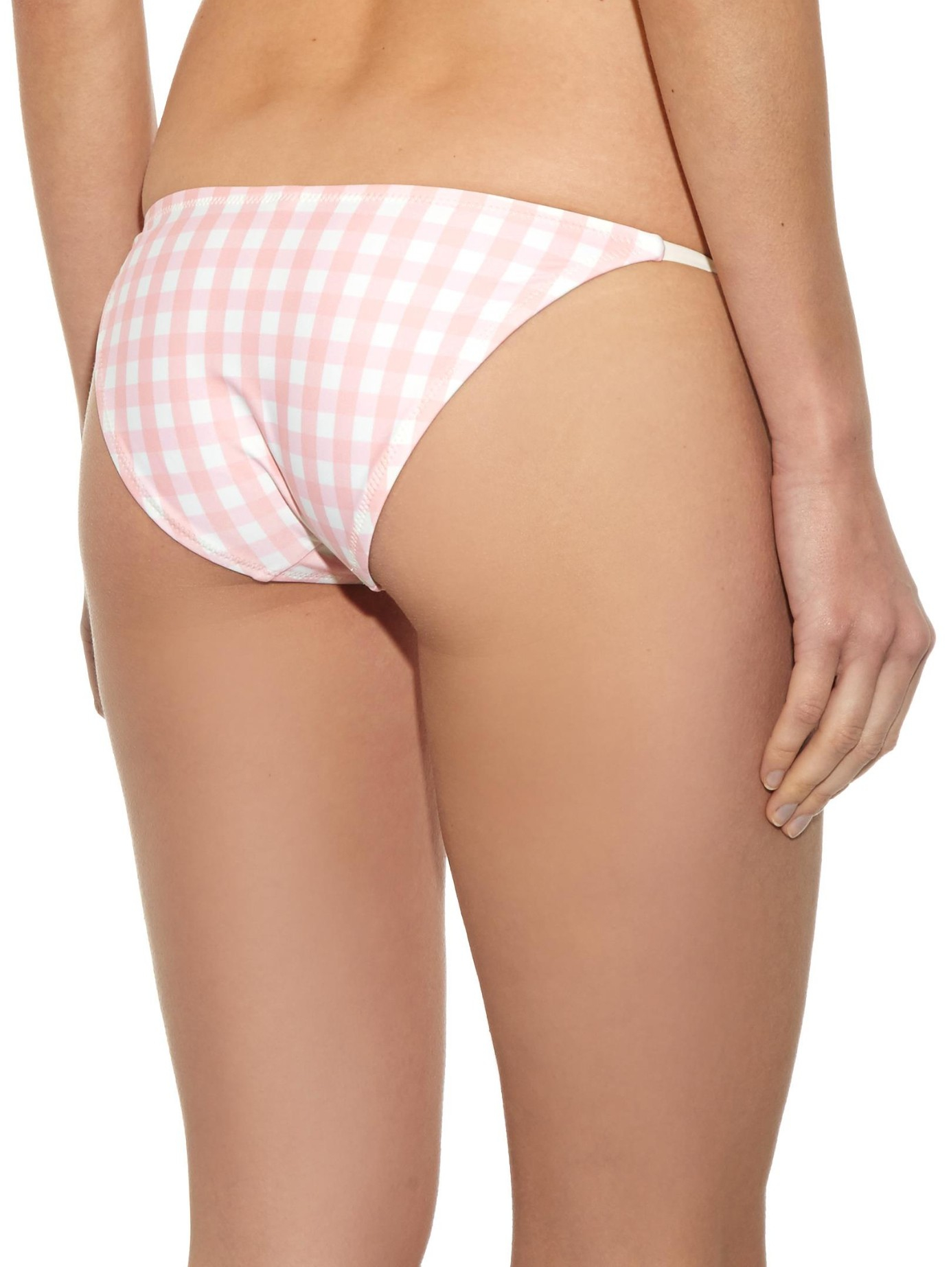 Solid & striped The Sophie Gingham Bikini Top in Pink