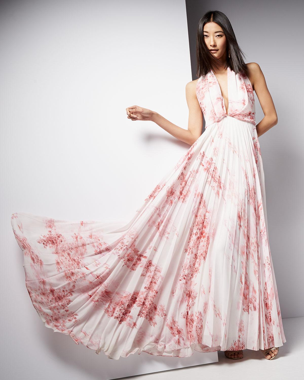 b5293c0756 Camilla & Marc Sleeveless Halter Floral-print Maxi Dress in Pink - Lyst