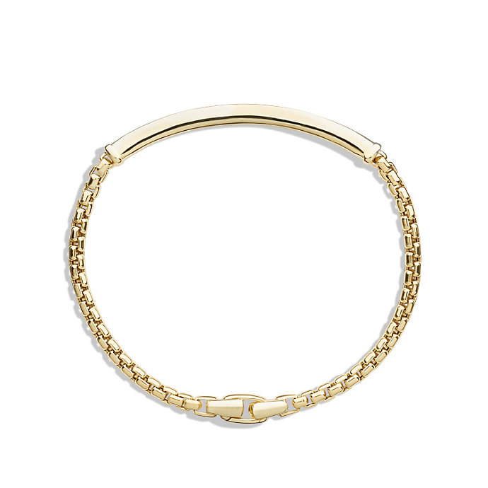 Lyst David Yurman Box Chain Id Bracelet In Gold Metallic For Men