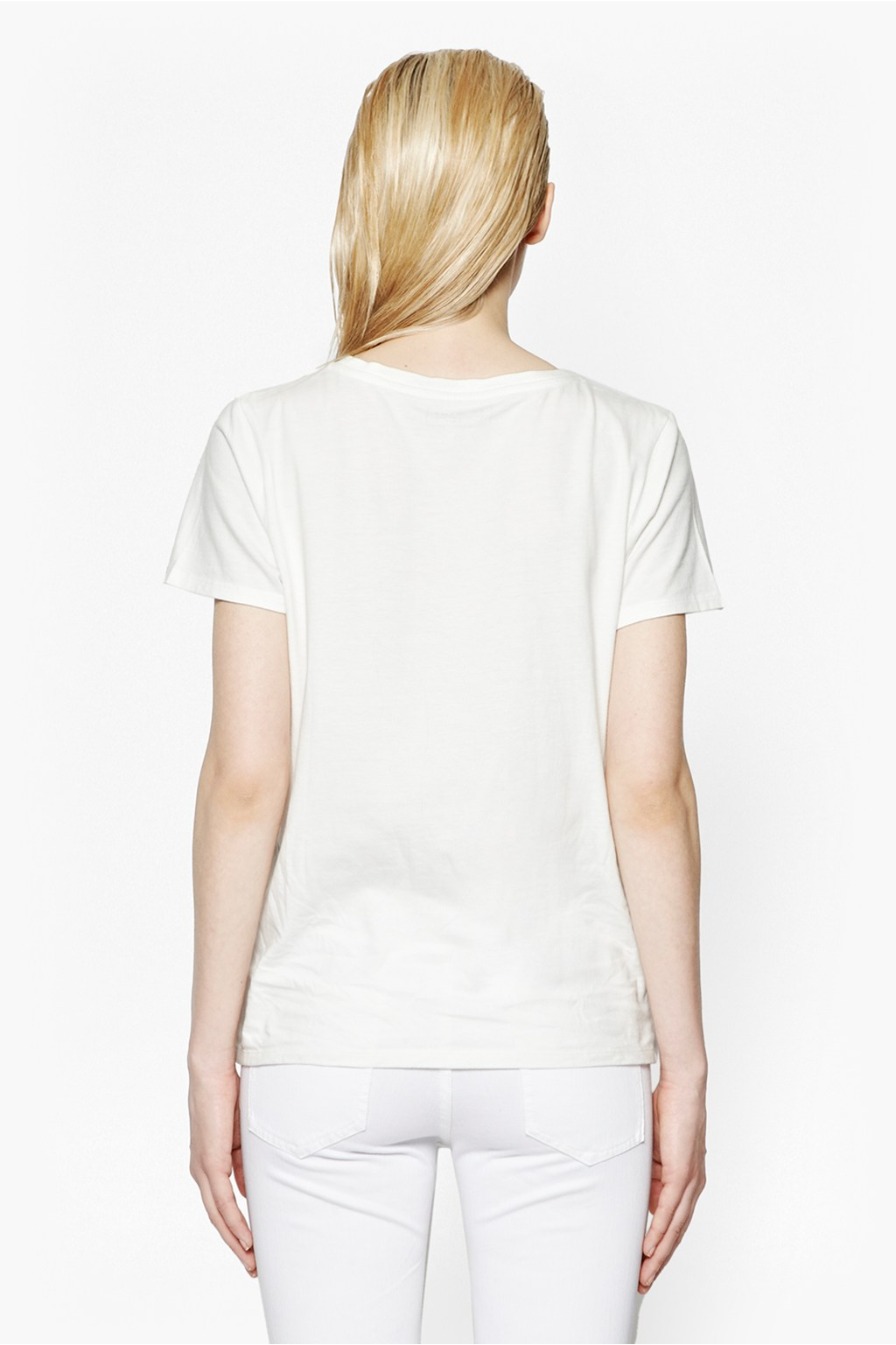 French connection fcuk fame slogan t shirt in white lyst for French connection t shirt dress