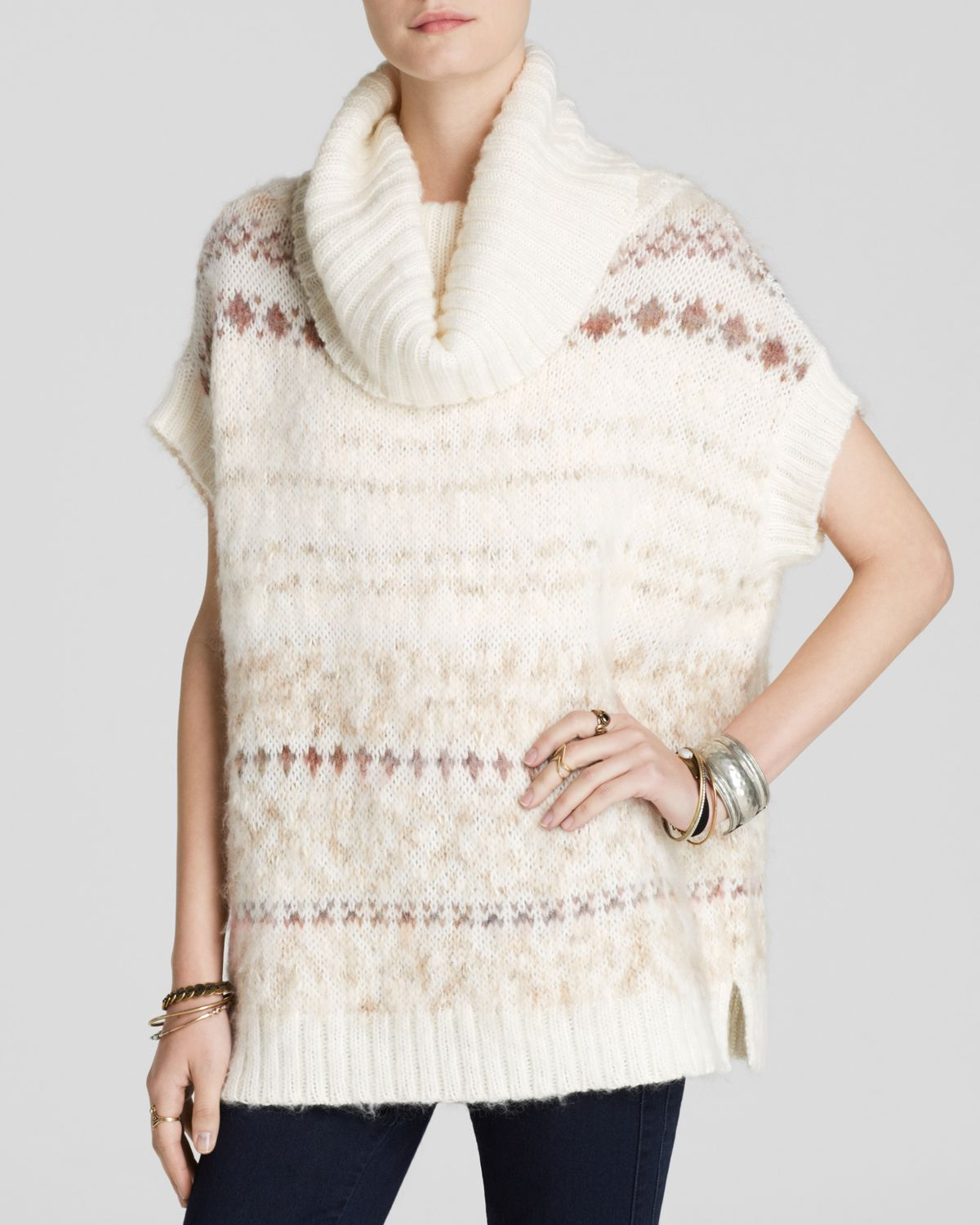 a527a07f65437f Free People Sweater Vest - Snow Bunny Fair Isle Turtleneck in ...