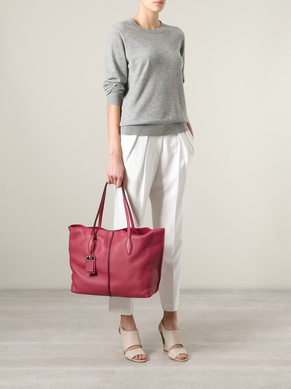 Tod's 'Joy' Shopping Tote in Pink & Purple (Pink)
