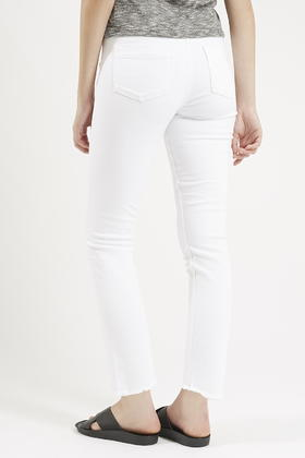 Topshop Moto White Slim Leg Jeans By Reclaim in White | Lyst
