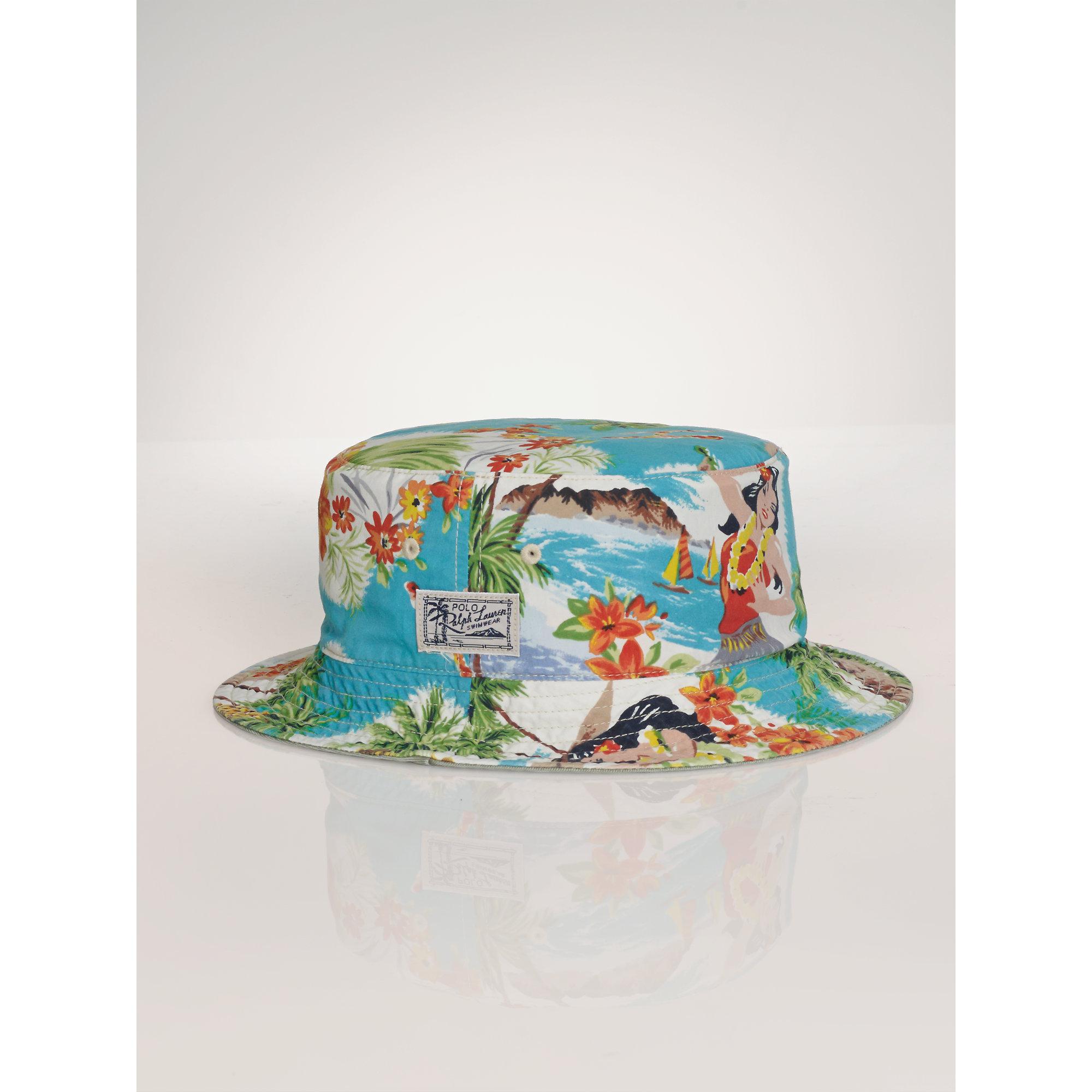 e54045b7510b6 Polo Ralph Lauren Reversible Hawaiian Bucket Hat in Blue for Men - Lyst