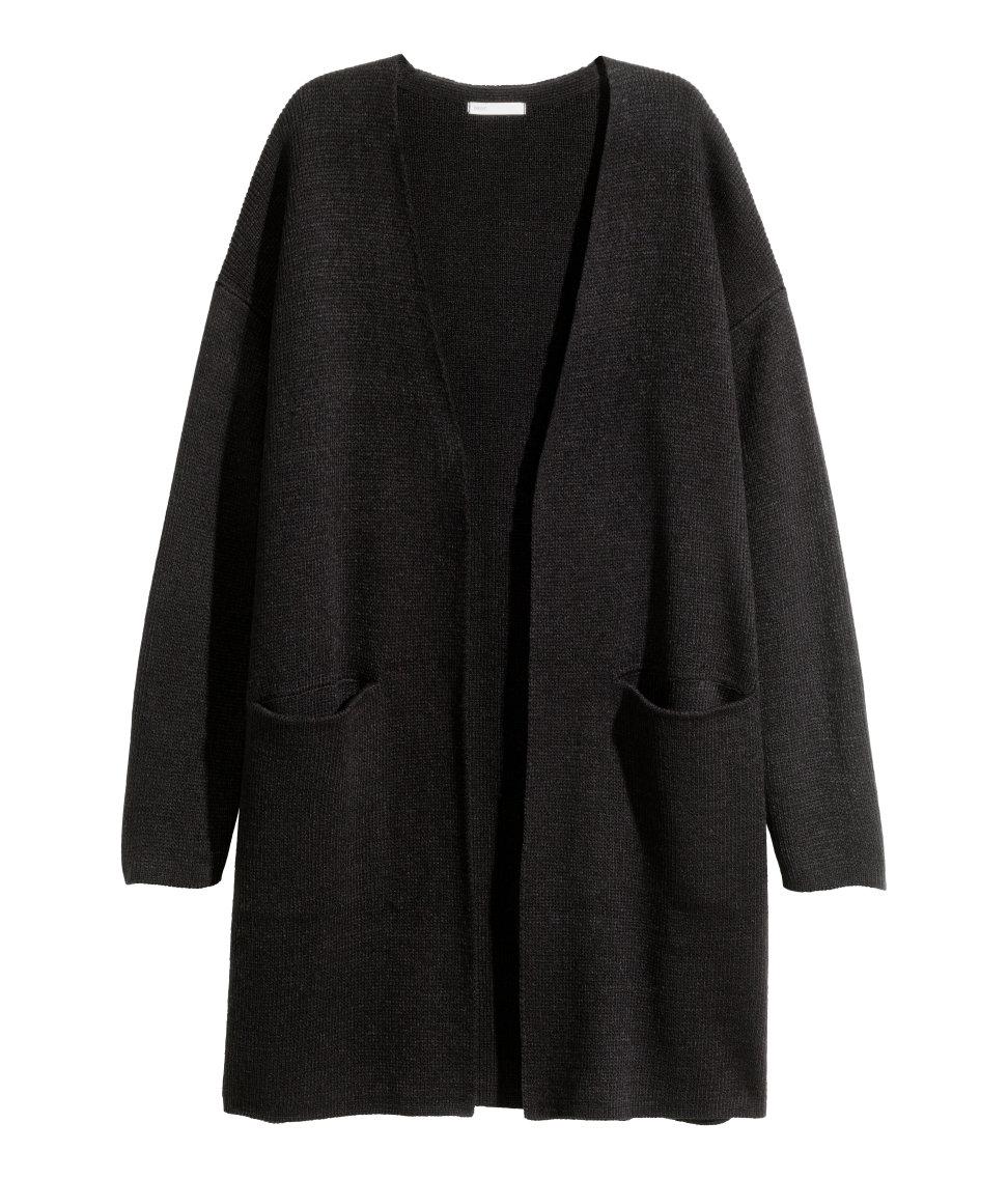 H&m Long Cardigan in Black