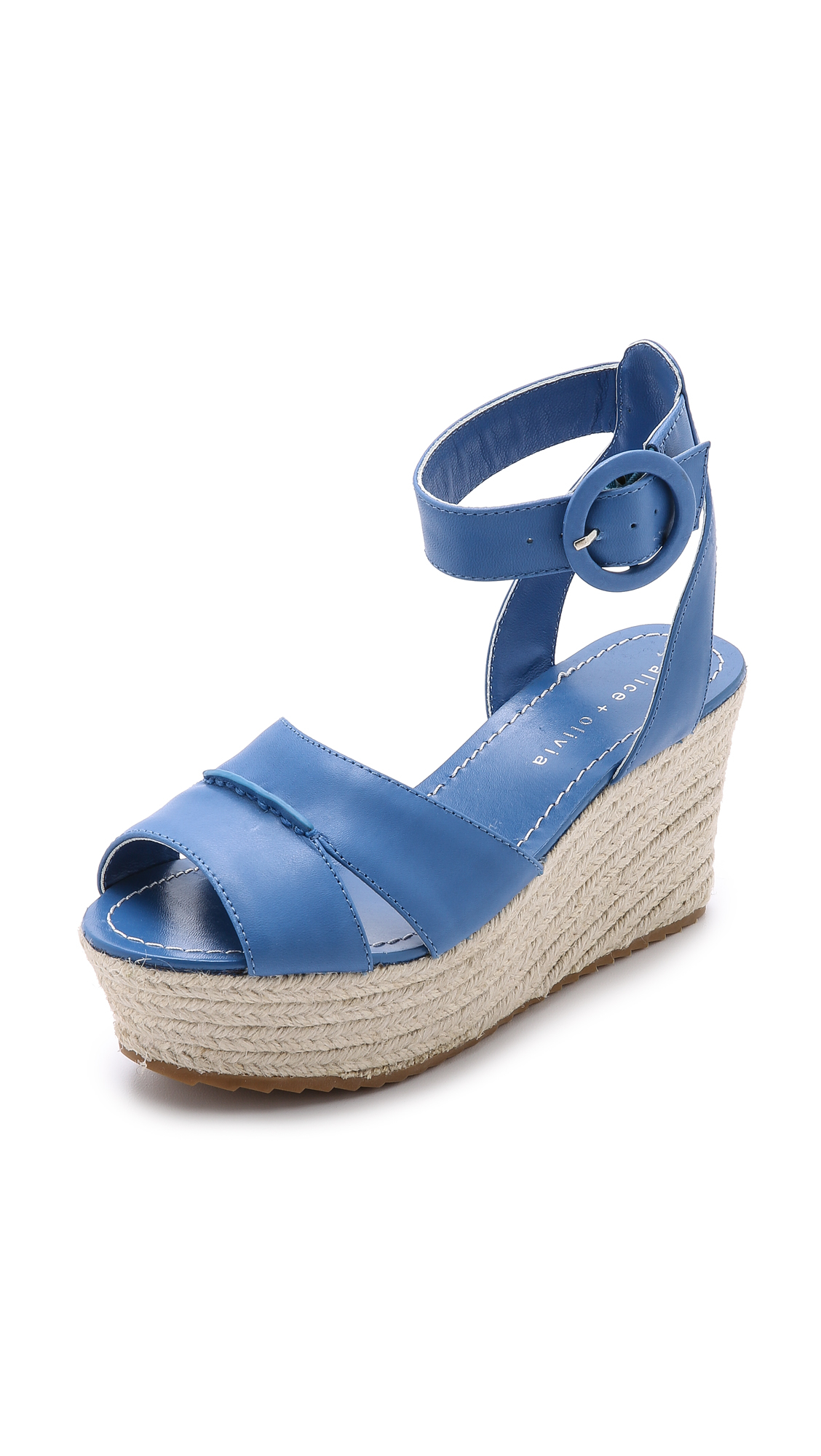 roberta leather espadrille wedge sandals in