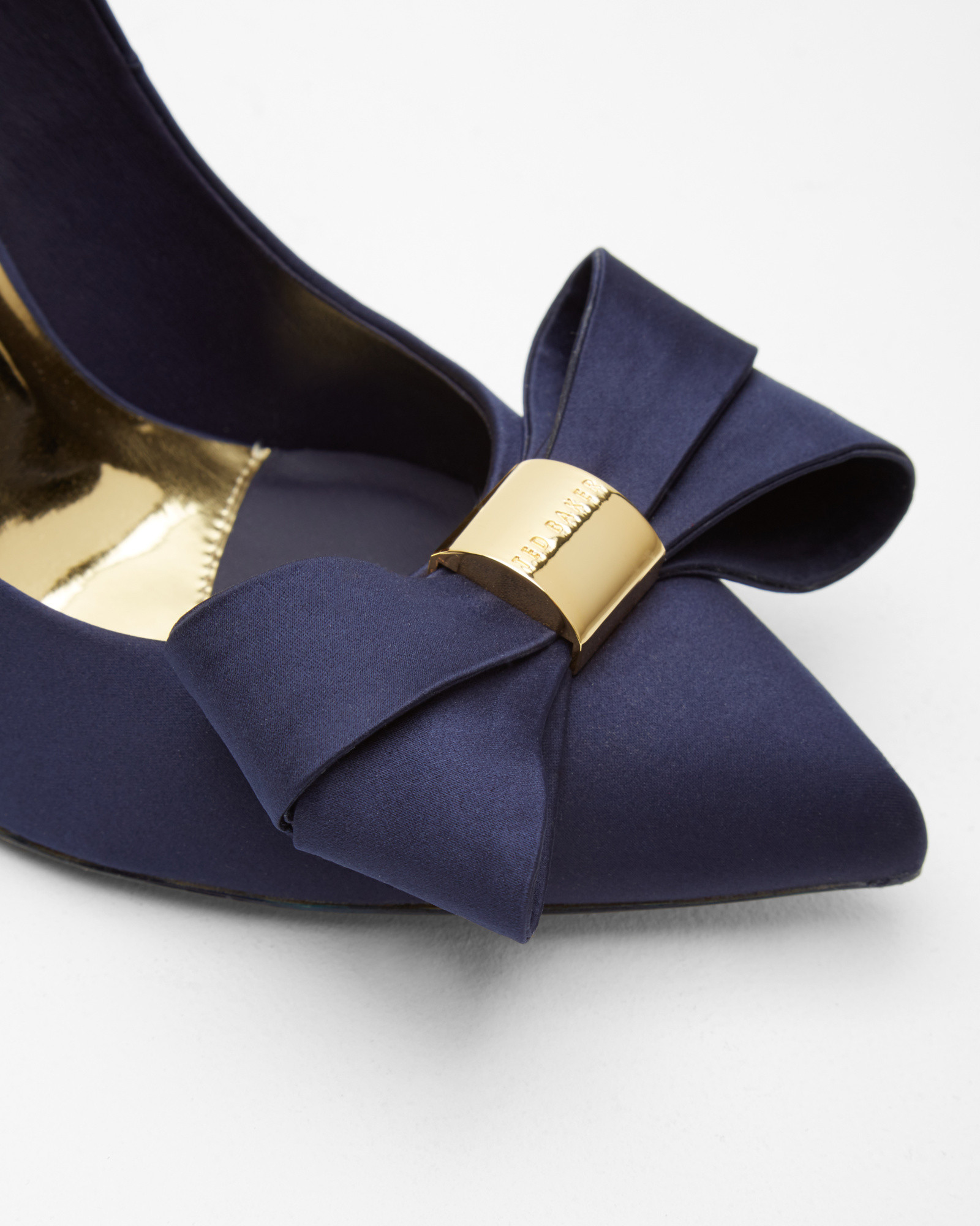 71388944e Ted Baker Statement Bow Court Shoes in Blue - Lyst